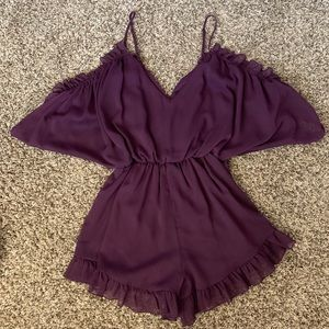 Other - Purple Ruffled Romper